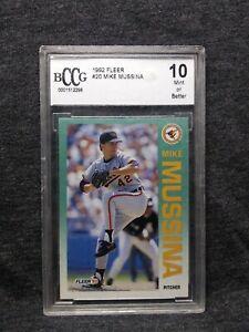 1992 Fleer Mike Mussina Baltimore Orioles #20 Beckett BCCG 10