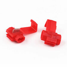 20X Red Electrical Cable Connectors Fast Quick Splice Lock Wire Terminals Crimp
