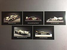 Porsche Factory Race Car Collector Card PostCard Set of 5 RARE!! Awesome L@@K