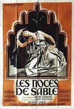 Original vintage poster LES NOCES DE SABLE MAGHREB FILM 1949
