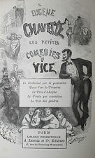 1875 Les Petites Comédies du Vice Eugène Chavette Vachette Comique Satirique EO