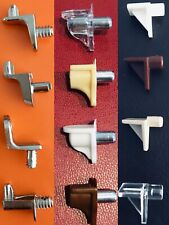 SHELF SUPPORTS STUD PLUG IN PINS PEGS 5MM HOLE KITCHEN CABINET SHELVING CUPBOARD