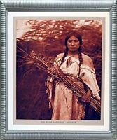 The Rush Gatherer Arikara Native American Silver Framed Art Print Picture 20x24