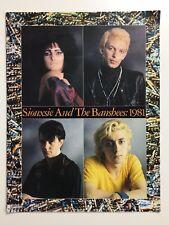 SIOUXSIE AND THE BANSHEES CONCERT TOUR PROGRAMME 1981 JUJU TOUR - RARE