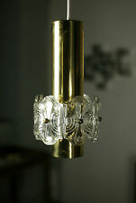 True Vintage 1x 70er Annual Ceiling Lamp 70er 1 Piece Lamp Lamp Gold Glass