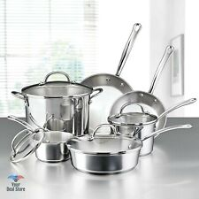 Induction Cookware Set Stainless Steel Pots And Pans Frying Pan Skillet With Lid