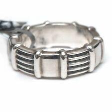 New DAVID YURMAN Men's 8mm Chairman Royal Cord Band Ring in Silver Size 9.75