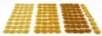 Arid grass tufts set x117 - Self adhesive static model railway scenery