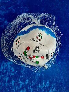 *I90 Italia 90 Mondo Pallone da calcio nuovo in rete promo FIAT vintage BLU