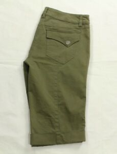 Hypris Women's Army Green Bermuda Shorts Size 2 Made In Italy