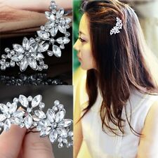 Hot White Crystal Rhinestone Wedding Party Bridal Hair Comb Hairpin Clip Jewelry
