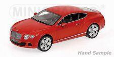 1:18 Bentley Continental GT red MINICHAMPS L.E. 1 of 750 pcs. 100139922 OVP NEW