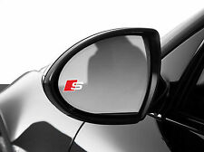 2x Audi S line SPIEGEL Logo Schriftzug Emblem S Q A 1 3 4 5 6 SLine S-Line