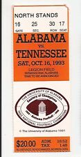 1993 Tennessee vs Alabama college football ticket stub