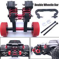 Für 1/8 ARRMA NERO BIG ROCK RC Double Wheel Wheelie Bar Ersatzrad Assembly Set