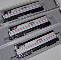 KATO 3 LOCO SET 1766105 + 1766106 + 1766107 N F40PH Amtrak Ph III 330/374/381