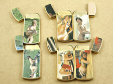 6x Penguin Narcis Vintage Artistic Nude Gas Lighters New Old Stock NOT WORKING