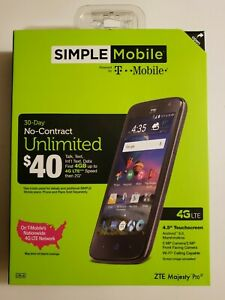 *NEW* ZTE Majesty Pro 4G LTE 8GB Smartphone - Simple Mobile - Sealed Ships free