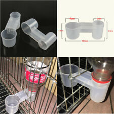 1x Plastic Pet Bird Drinker Feeder Water Bottle Cup Accessory For Chicken Pigeon