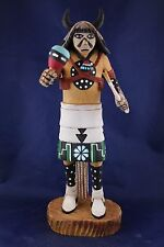 Vintage 1980s Native American Hopi White Buffalo Kachina Signed by Earl Arthur