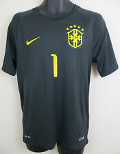 Nike BRASIL 2014-15 Third 3rd 1# Football Shirt Jersey Brazil Camiseta S Small