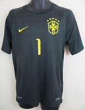 Nike BRASIL 2014-15 Third 3rd 1# Football Shirt Jersey Brazil Camiseta S Small