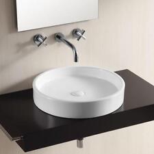 weiß Keramik Waschtisch Waschbecken Aufsatzbecken Waschschale rund 51 x 51 cm
