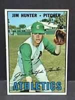 1967 Topps #369 Jim Hunter EX Oakland A's Athletics HOF Catfish