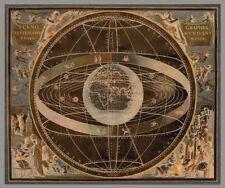 Russel brennan: Celestial II Imagen TERMINADA 50x60 Mural Planetas Universo