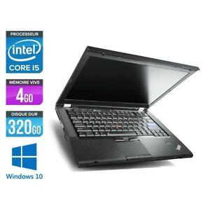 pc portable Lenovo T420 I5-2520m 2.50ghz 4Go 500Go HDD 14 Intel HD Windows 10