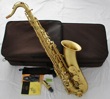 Professional Yellow Antique TaiShan Tenor Saxophone Bb sax Italian pads New Case