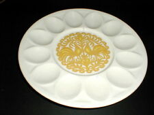 Royal China USA Bird Peacock Rooster Deviled Egg Plate RARE