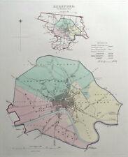HEREFORD, ENGLAND, Street Plan, Dawson Original antique map 1832