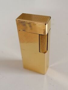FLAMINAIRE VINCI FRANCE LIGHTER GOLD PLATED 20MC PLAQUE OR ACCENTINO  BRIQUET