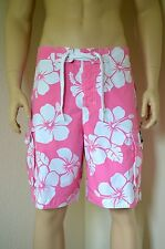 "Abercrombie & Fitch Redfield montaña Swim Shorts Rosa Floral XS 28"" £ 64"