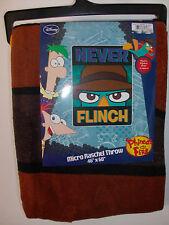 Perry the Platypus Phineas & Ferb Agent P Micro Raschel Fleece NEVER FLINCH
