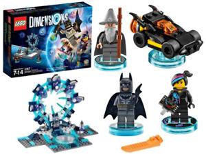 NEW LEGO DIMENSIONS STARTER PACK LEGO ONLY BATMAN GANDALF WYLDSTYLE BATMOBILE