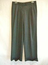 LAUNDRY BY DESIGN Gray Pinstripe Stretch-Wool Cuffed Pants $235 NWT sz 2