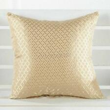 Beige Grid Throw Pillow Case Home Car Sofa Decorative Cushion Cover Decal Decor