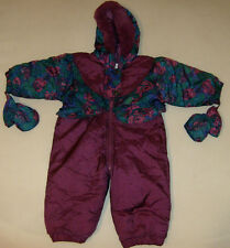 Quality Weather Tamer Outerwear Girls Sz 18M Snow Suit Hood Gloves One-Piece Zip