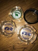 DELTA LINE STEAMSHIP CO VINTAGE ASHTRAY+princess 4pc Lot Cruises Line