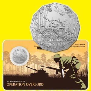 * Australia 50 cent 2021 Battle of Long Khanh * Tank Helicopter War * Cu-Ni Card