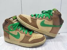finest selection 34f75 0fabc Brand New Nike SB Dunk High Premium Deck Woodgrain Tweed Brown Green Mens  Size 8