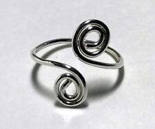 Adjustable Sterling Silver Swirl Toe Ring
