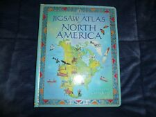 NEW 2006 USBORNE Jigsaw ALTAS of NORTH AMERICA 6 Puzzles book geography