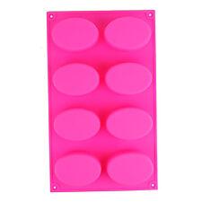 8 cavità Ovale in Silicone Decorazione Stampi biscotti caramelle cioccolato Baking Mold