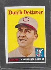 1958 Topps Baseball #396 Dutch Dotterer EX-MT *6293
