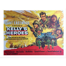 """KELLY'S HEROES (1970) RARE VINTAGE 40""""x30"""" UK QUAD POSTER CLINT EASTWOOD"""