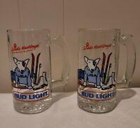 Bud Light VINTAGE Spuds Mackenzie 1987 Olympics Beer Mugs Steins