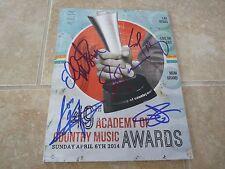 2014 ACM Music Awards Program Kristin Bush + 4 Signed Autographed PSA Guaranteed
